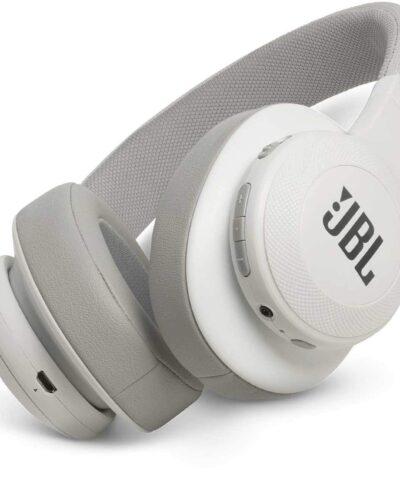 JBL juhtmevabad kõrvaklapid + mikrofon E55BT, valge