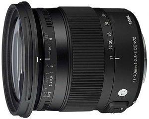 Sigma 17-70mm f/2.8-4 DC Macro OS HSM Contemporary objektiiv Canonile
