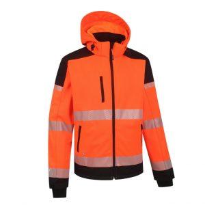 Kõrgnähtav softshell Palermo oranž/must XL