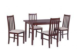 Pikendatav söögilaud + 4 tooli.