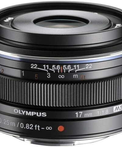 M.Zuiko Digital 17mm f/1.8 objektiiv, must