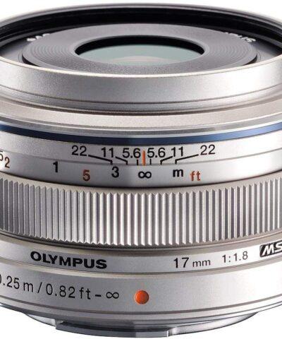 M.Zuiko Digital 17mm f/1.8 objektiiv, hõbedane