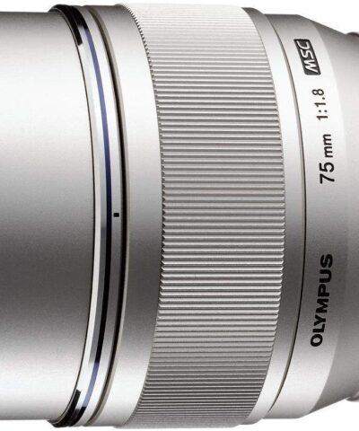 M.Zuiko Digital ED 75mm f/1.8 objektiiv, hõbedane
