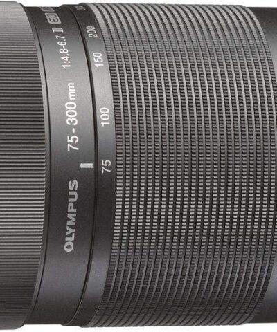 M.Zuiko Digital ED 75-300mm f/4.8-6.7 II objektiiv, must