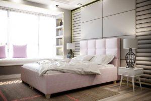 Pesukastiga voodi Italia 140x200 cm.